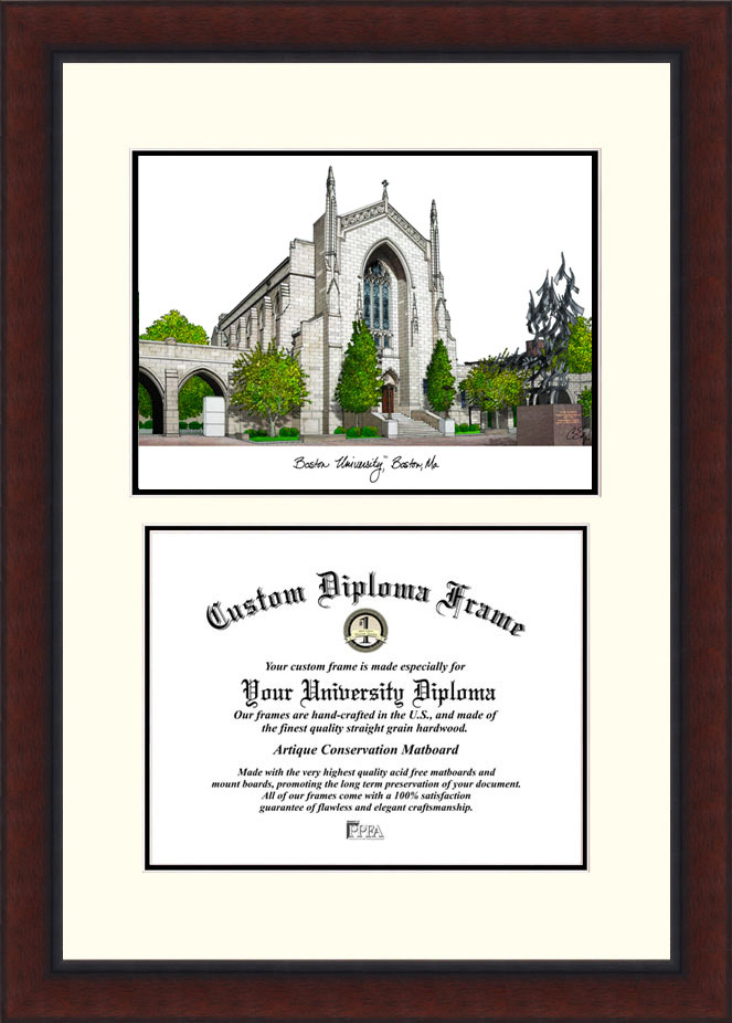 Boston University  Legacy Scholar Diploma Frame