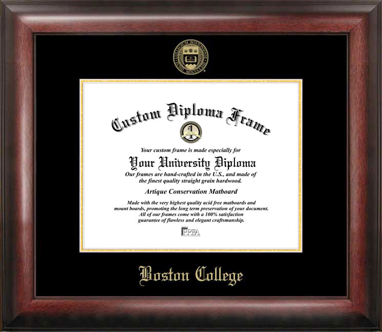 Boston College Gold Embossed Diploma Frame