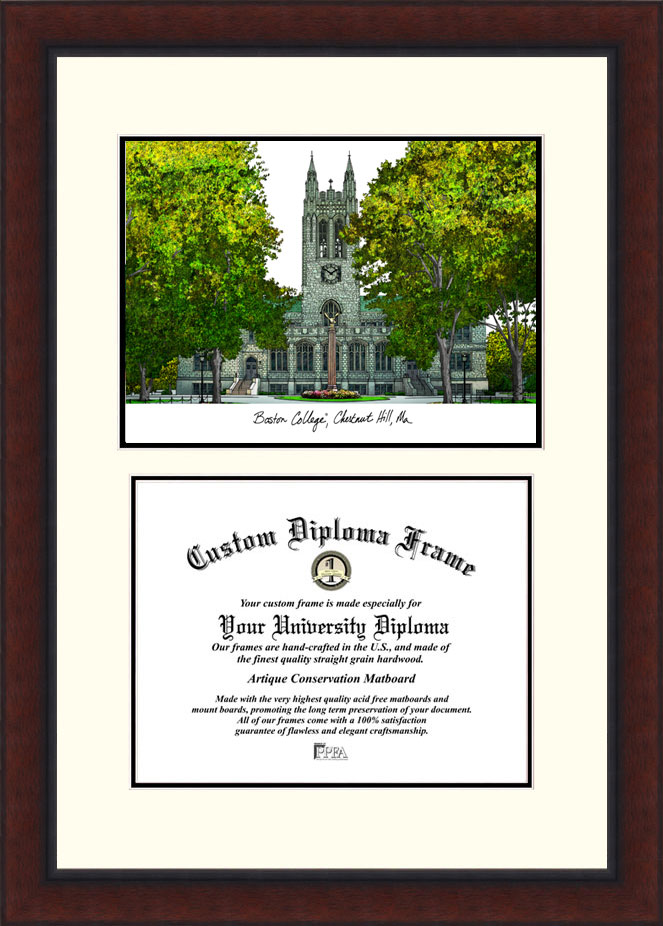 Boston College  Legacy Scholar Diploma Frame