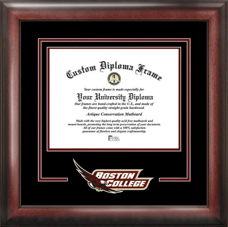 Boston College Spirit Diploma Frame