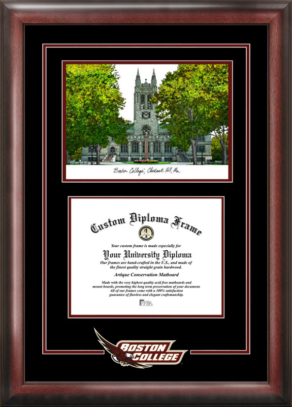 Boston College Spirit  Graduate Frame with Campus Image