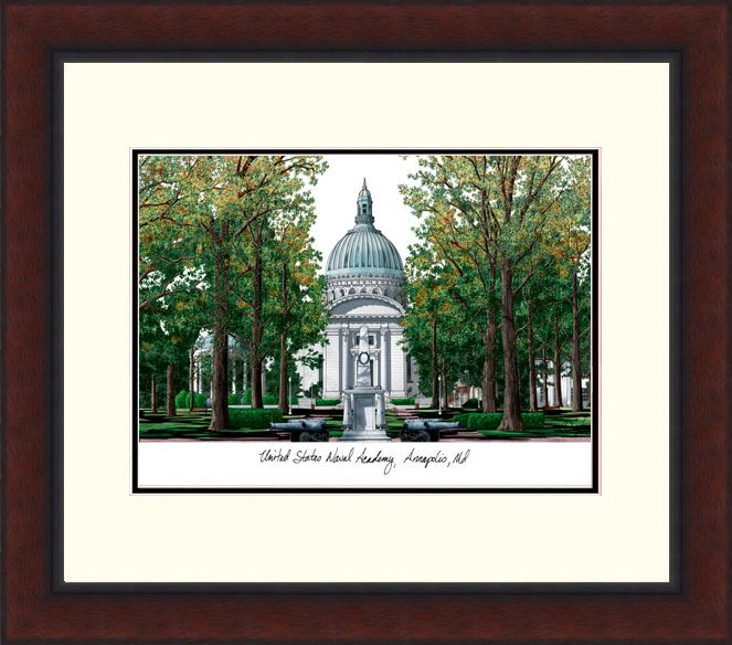 United States Naval Academy Legacy Alumnus Framed Lithograph