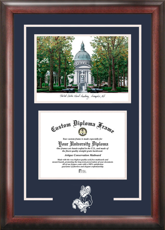 United States Naval Academy Spirit  Graduate Frame with Campus Image