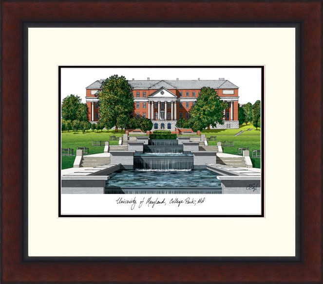 University of Maryland Legacy Alumnus Framed Lithograph