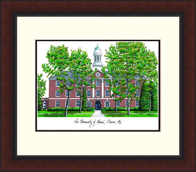 Maine University Campus Legacy Alumnus Framed Lithograph