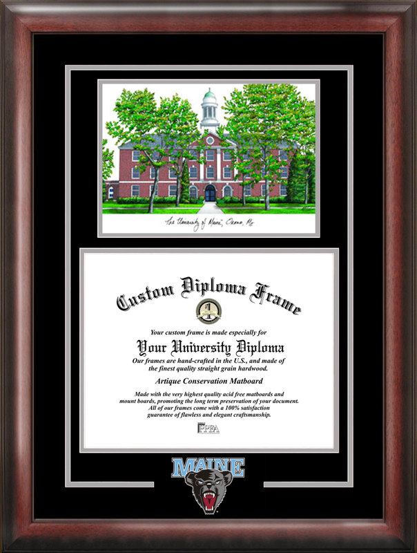 Maine University Spirit Graduate Frame with Campus Image