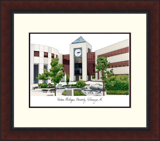 Western Michigan University Legacy Alumnus Framed Lithograph