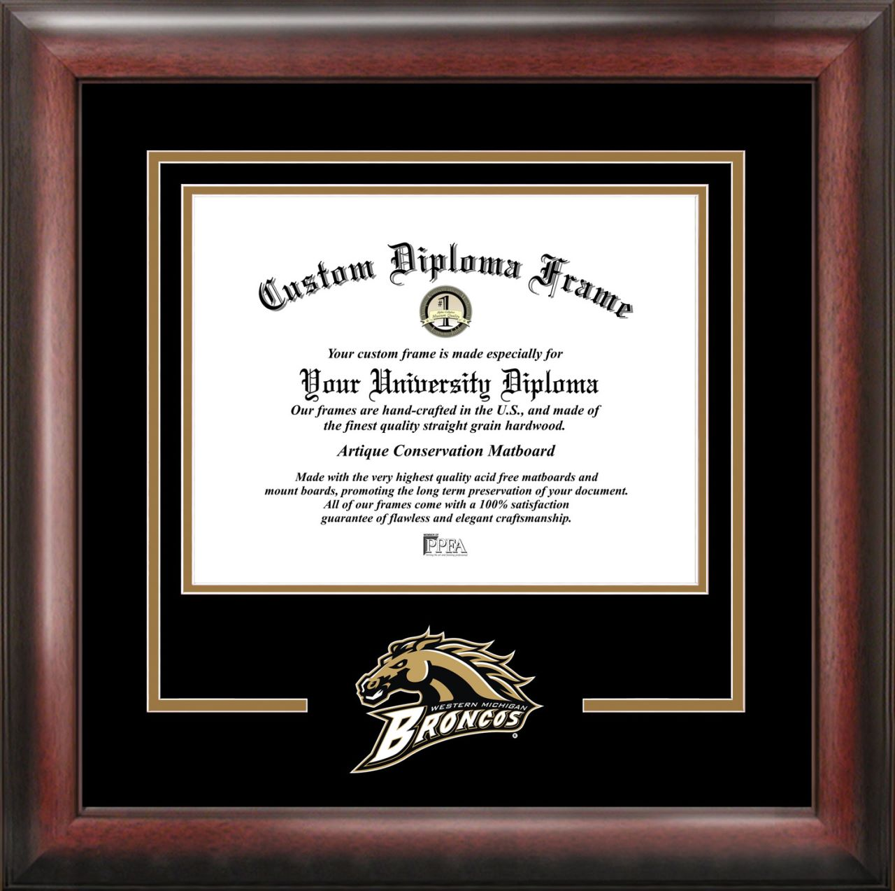 Western Michigan University Spirit Diploma Frame