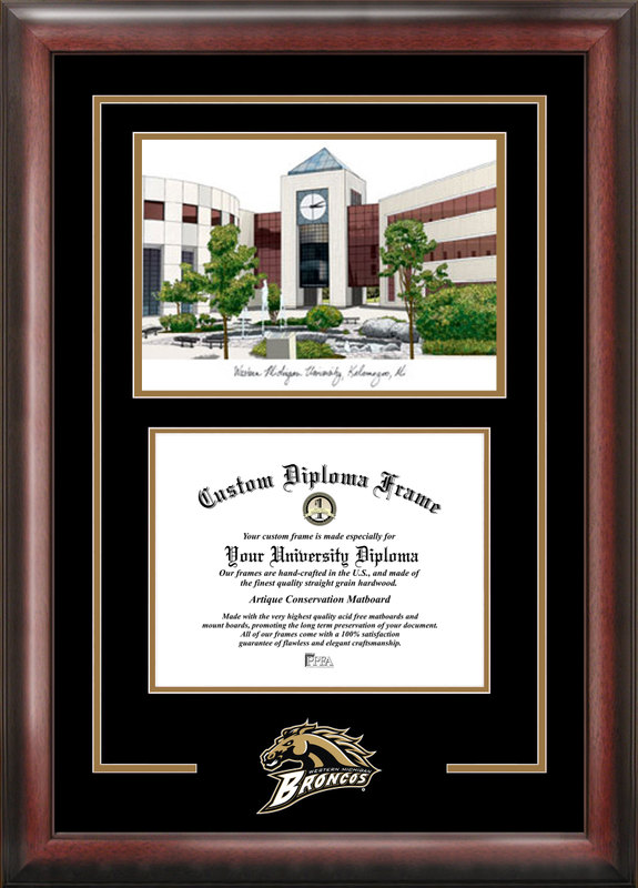 Western Michigan University Spirit Graduate Frame with Campus Image