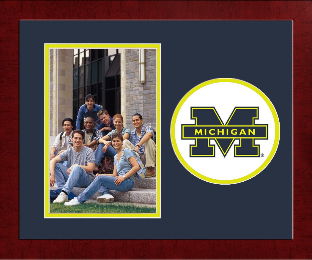 University of Michigan Spirit Photo Frame (Vertical)