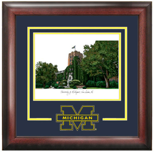 University of Michigan Spirit Litho Frame