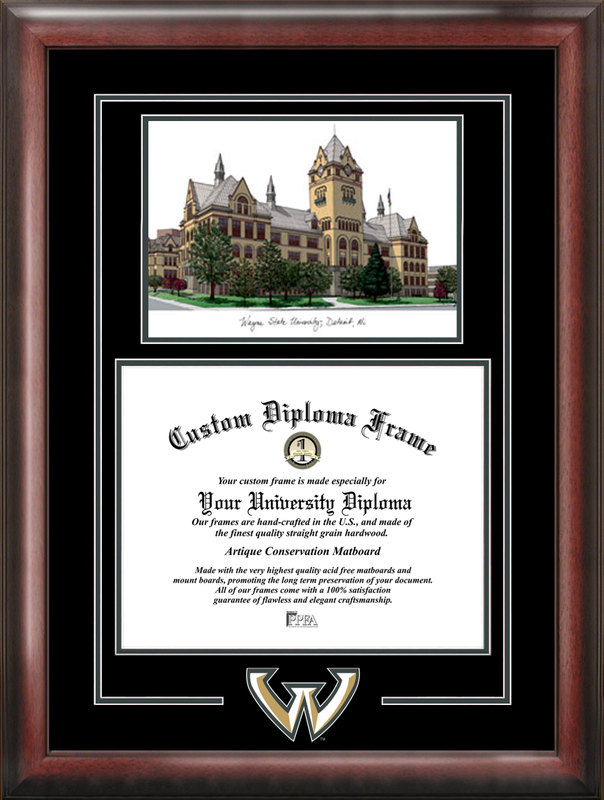 Wayne State University Spirit Graduate Frame with Campus Image