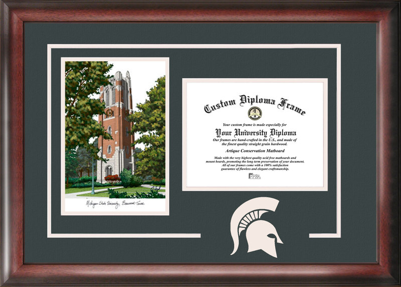 Michigan State University Beaumont Hall Spirit Graduate Frame with Campus Image