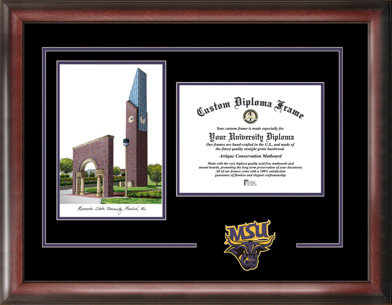 Minnesota State University Mankato Spirit Graduate Frame with Campus Image