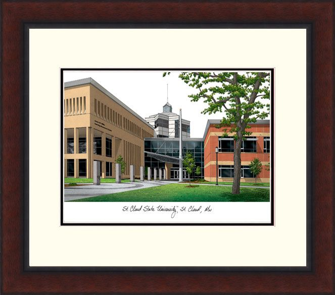 St. Cloud State Legacy Alumnus Framed Lithograph