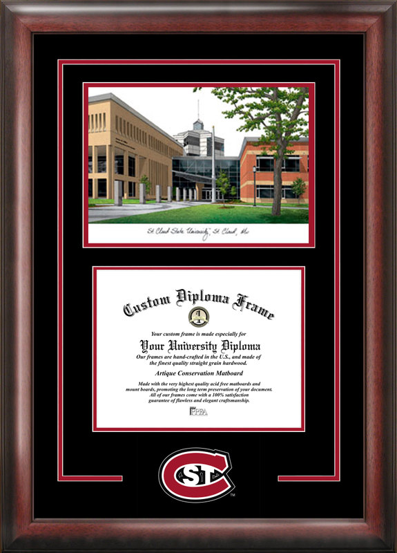 St. Cloud State Spirit Graduate Frame with Campus Image