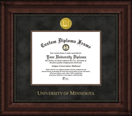 University of Minnesota  Executive Diploma Frame