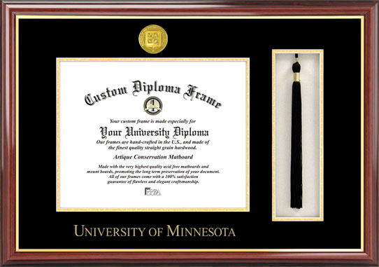 University of Minnesota  Tassel Box and Diploma Frame
