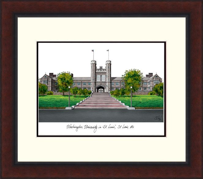Washington University in St. Louis Legacy Alumnus Framed Lithograph