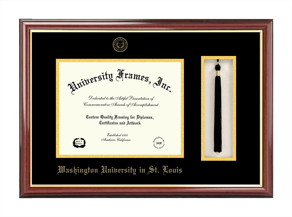 Washington University in St. Louis   Tassel Box and Diploma Frame