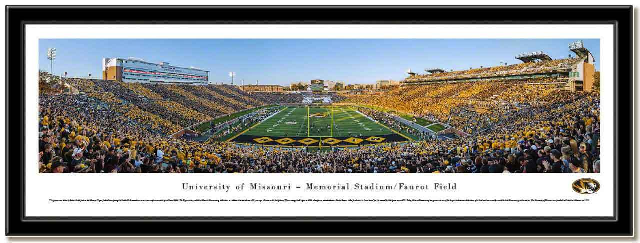 University of Missouri Framed Stadium Print