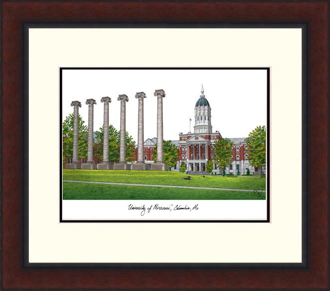 University of Missouri Legacy Alumnus Framed Lithograph