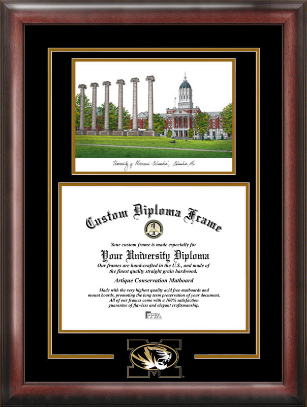 University of Missouri Spirit Graduate Frame with Campus Image