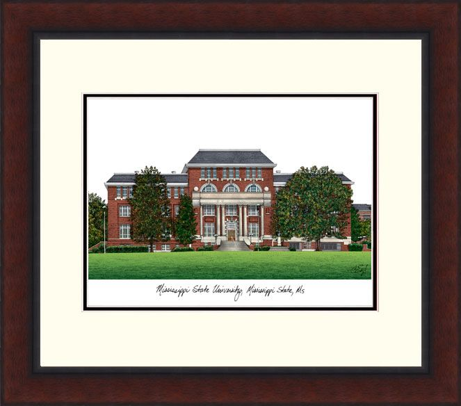 Mississippi State Legacy Alumnus Framed Lithograph