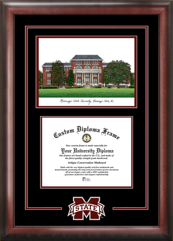 Mississippi State Spirit Graduate Frame with Campus Image