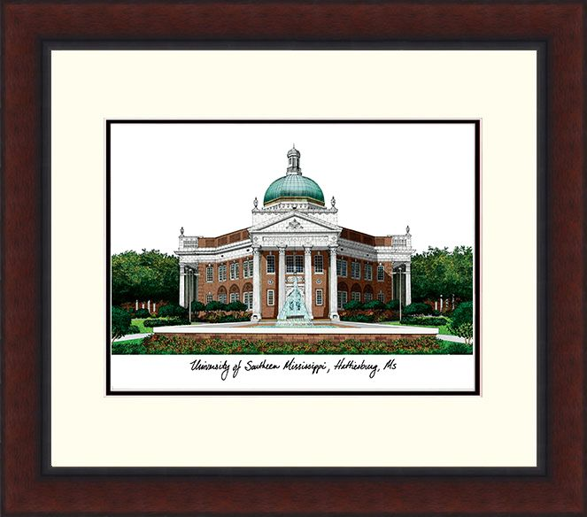 Southern Mississippi Legacy Alumnus Framed Lithograph