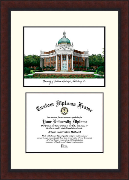 Southern Mississippi  Legacy Scholar Diploma Frame