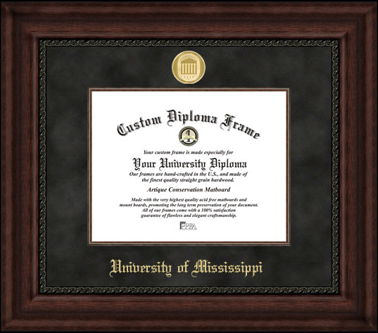 University of Mississippi  Executive Diploma Frame