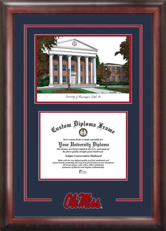 University of Mississippi Spirit Graduate Frame with Campus Image