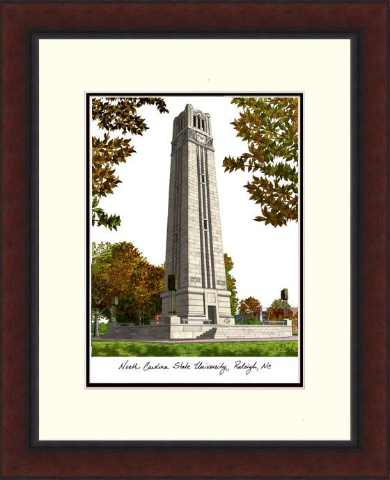 North Carolina State University Legacy Alumnus Framed Lithograph