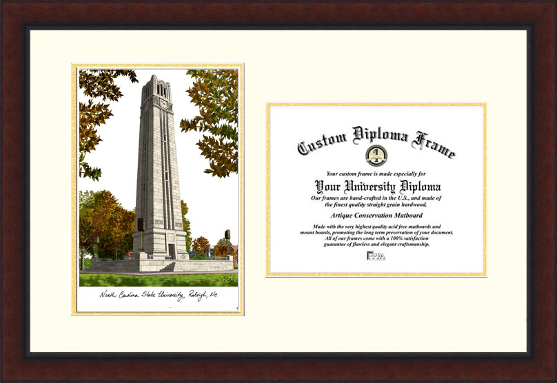 North Carolina State University   Legacy Scholar Diploma Frame