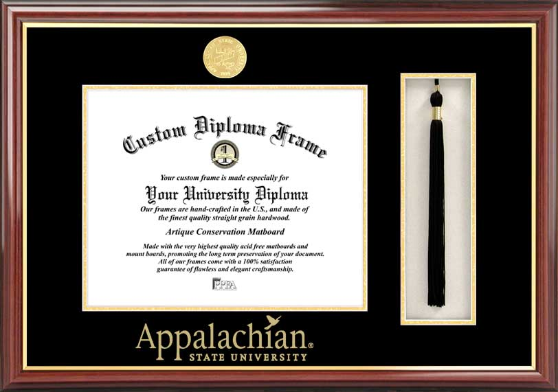 Appalachian State University  Tassel Box and Diploma Frame