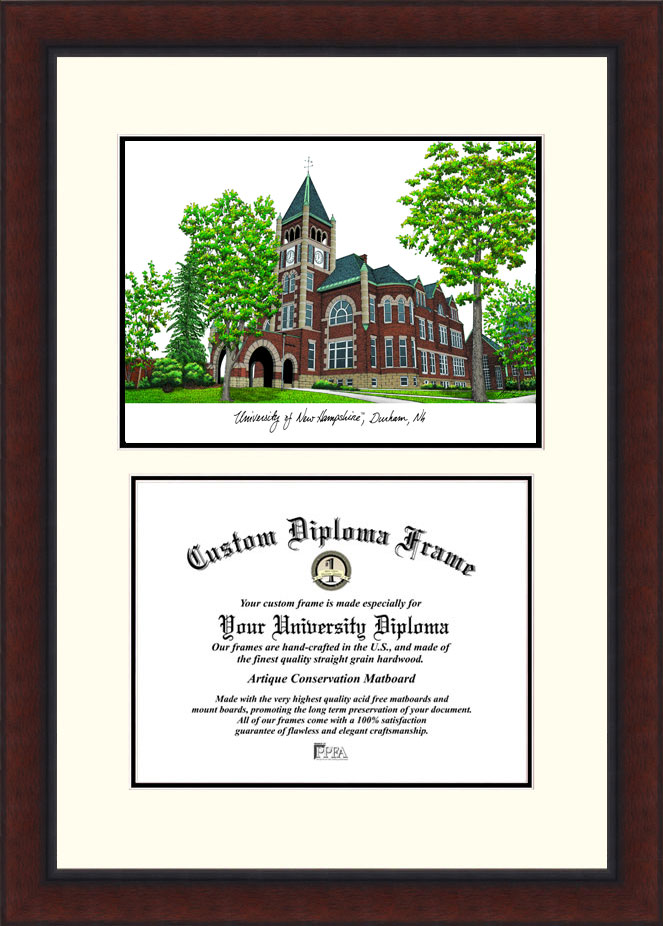 University of New Hampshire   Legacy Scholar Diploma Frame