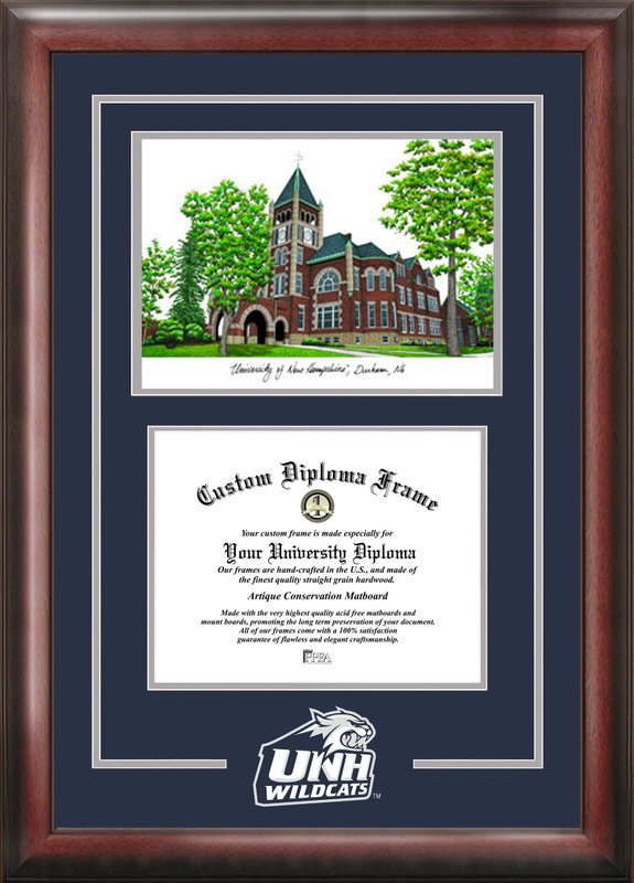 University of New Hampshire Spirit Graduate Frame with Campus Image