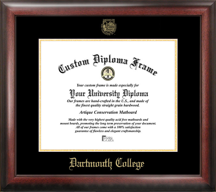Dartmouth College Gold Embossed Diploma Frame