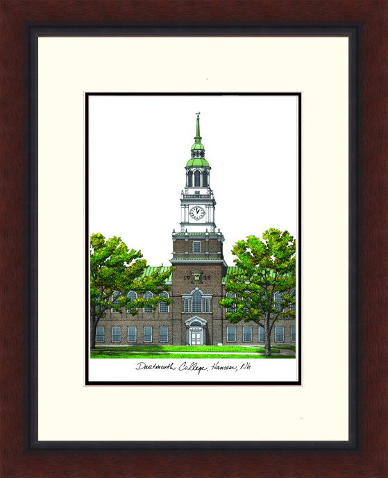 Dartmouth College Legacy Alumnus Framed Lithograph