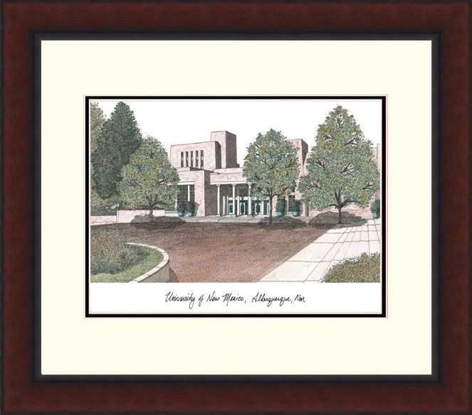 University of New Mexico Legacy Alumnus Framed Lithograph