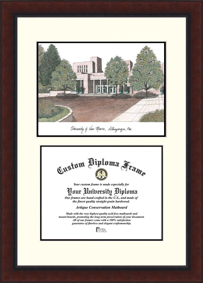 University of New Mexico  Legacy Scholar Diploma Frame