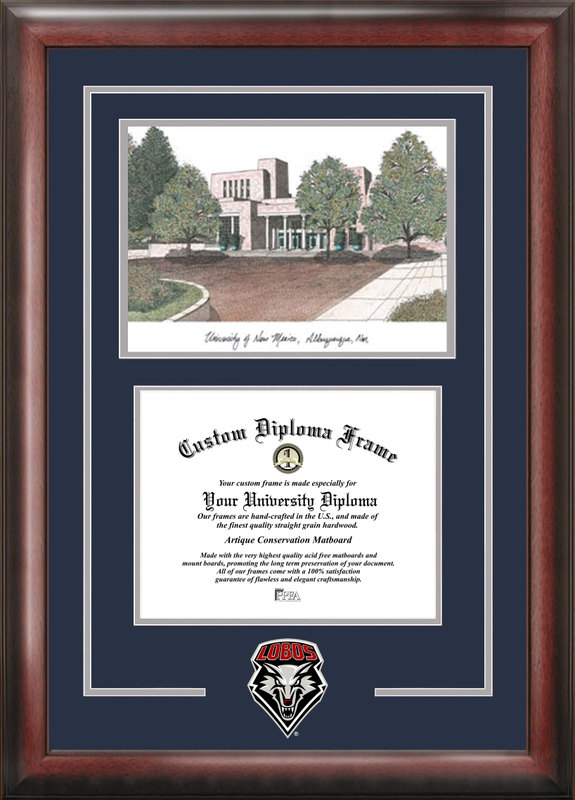 University of New Mexico Spirit Graduate Frame with Campus Image