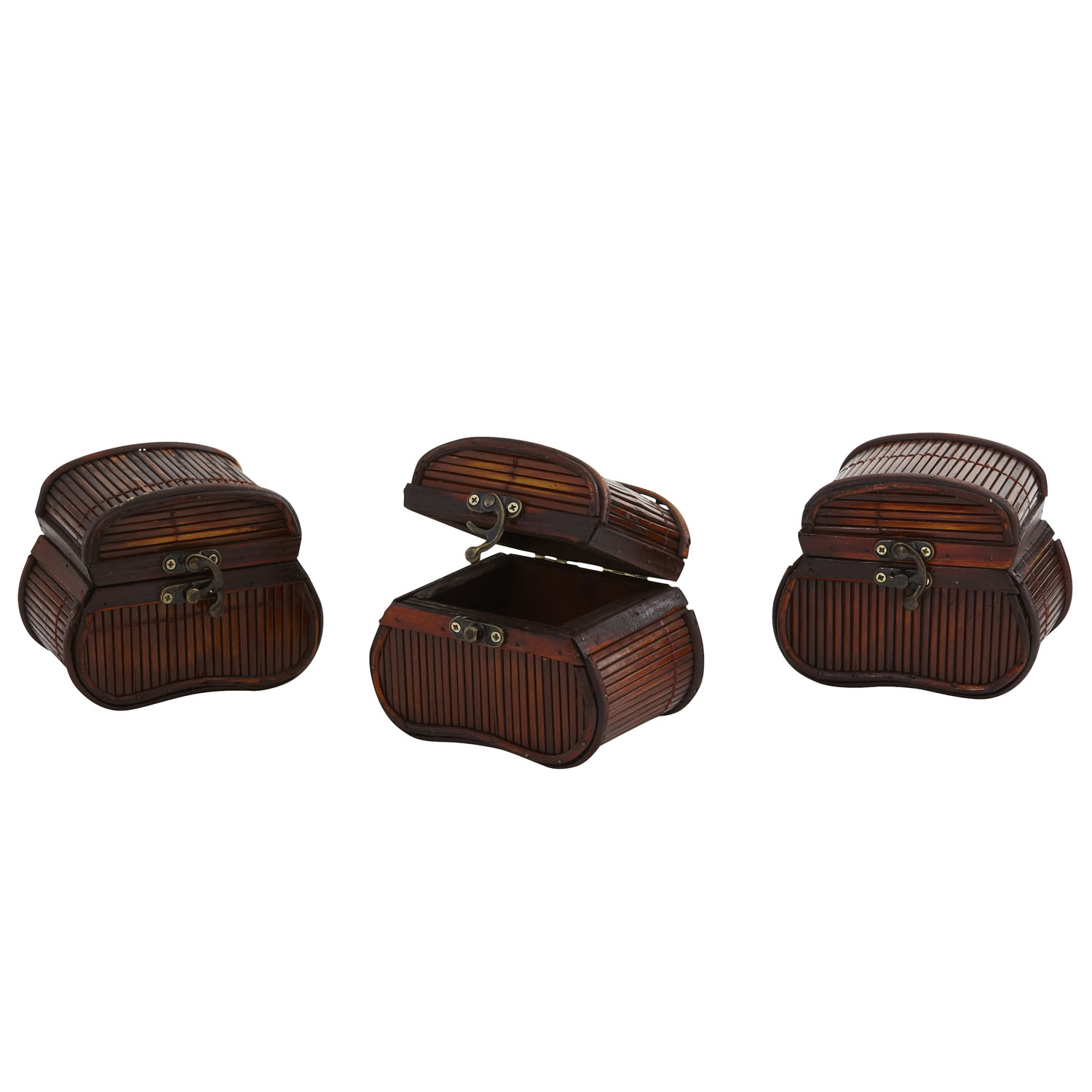 Nearly Natural 0544-S3 Bamboo Chests (Set of 3)