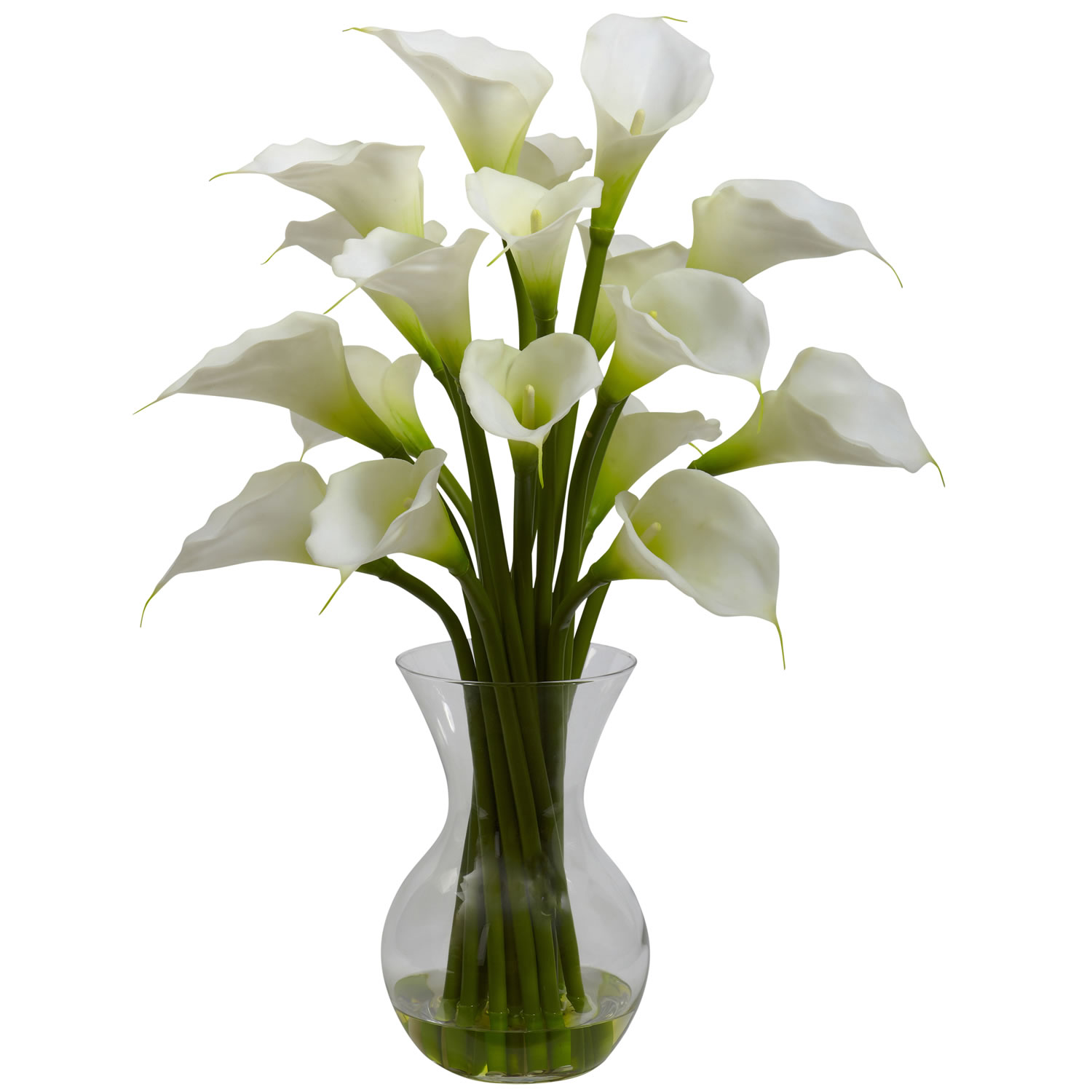 Nearly Natural 1299-CR Galla Calla Lily w/Vase Arrangement