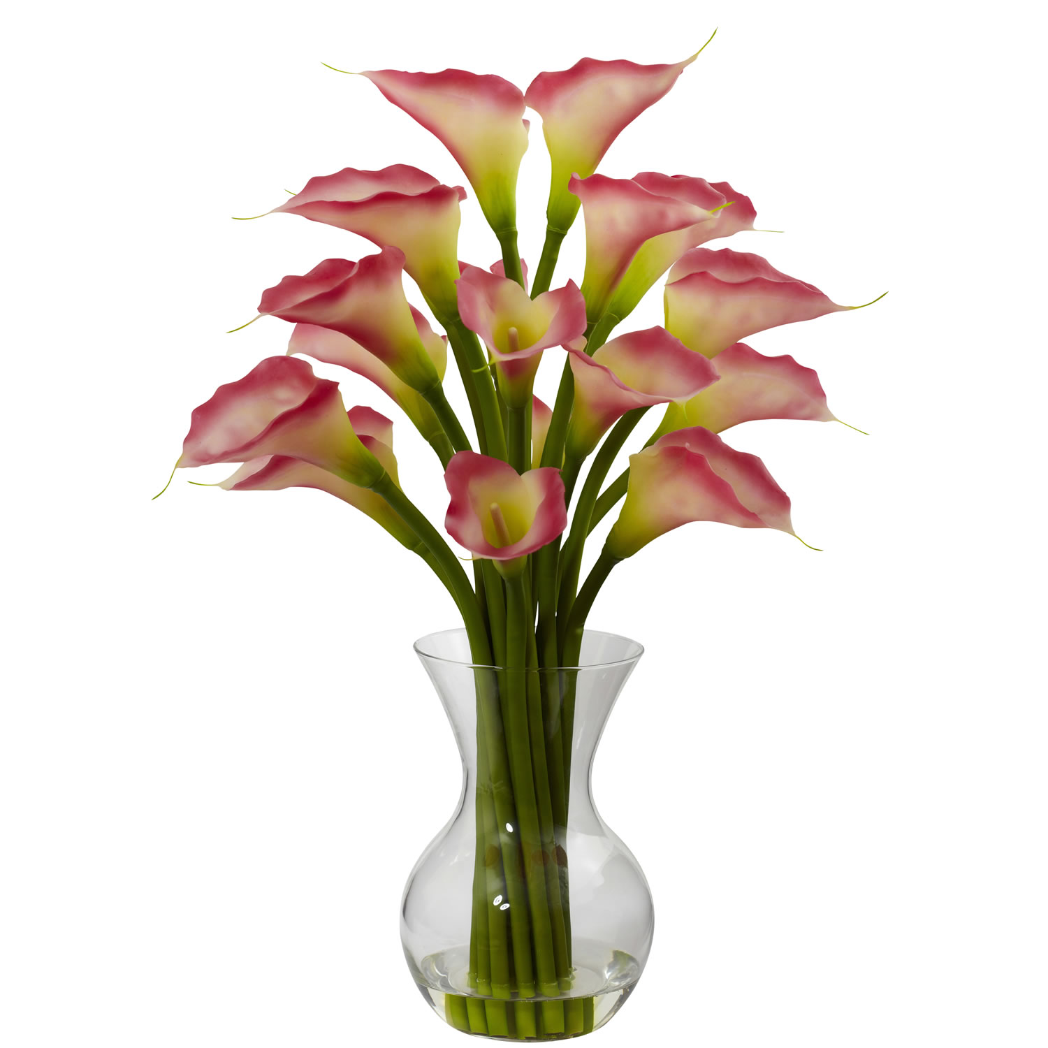 Nearly Natural 1299-PK Galla Calla Lily w/Vase Arrangement - NN_1299-PK