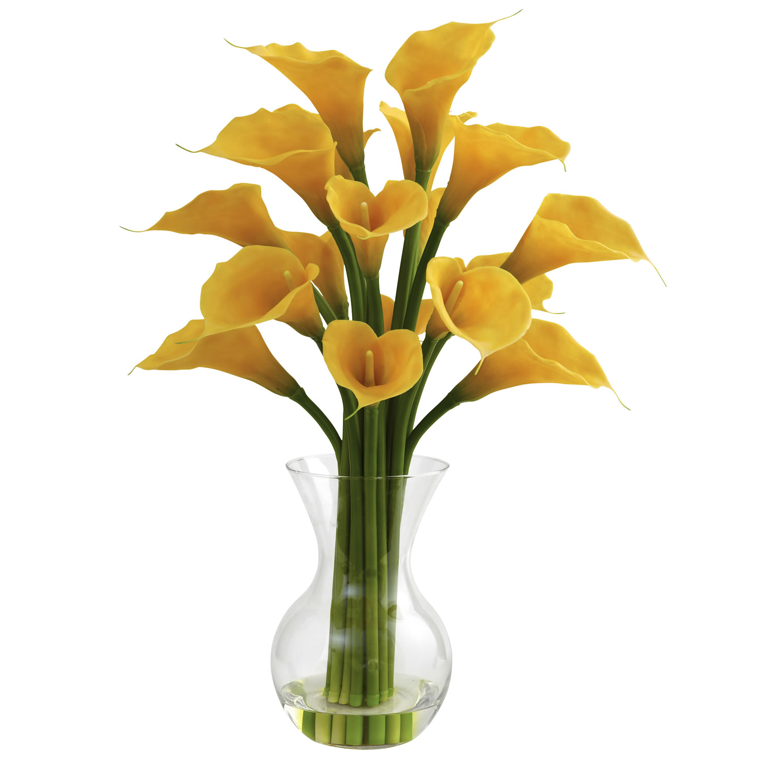Nearly Natural 1299-YL Galla Calla Lily w/Vase Arrangement