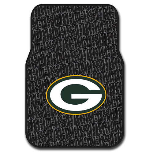 Green Bay Packers NFL Car Front Floor Mats (2 Front) (17x25