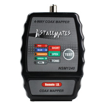 NstallMates? 4-way coax mapper with Color Coded Indicators - NSM1240 - NSM1240