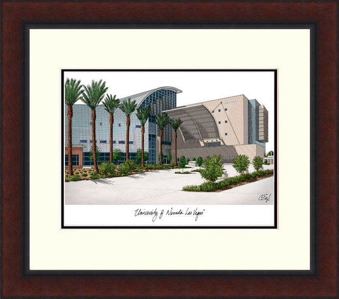 University of Nevada,Las Vegas Legacy Alumnus Framed Lithograph